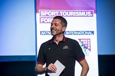 Vortrag beim Sport Tourismus Forum
